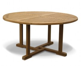 Sissinghurst Round Teak Outdoor Dining Table - 1.5m
