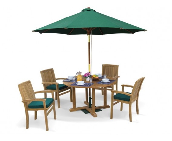 Sissinghurst 4 Seater Round 1.2m Dining Set with Cannes Chairs