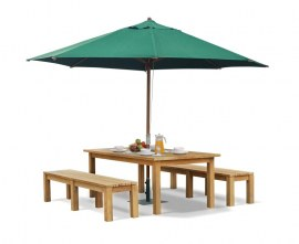 Gladstone Teak Garden Table and Benches Set