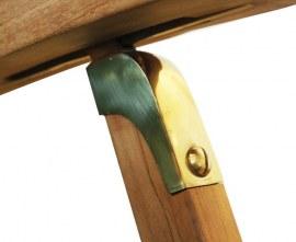 Halo Teak Steamer Chair, Brass fittings & Cushion