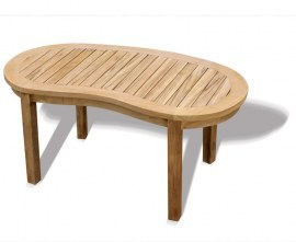 Deluxe Teak Outdoor Coffee Table, Banana Coffee Table
