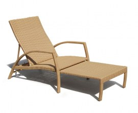 Antibes Synthetic Rattan Outdoor Sun-Lounger