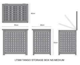 Set of 2 Tango Teak Outdoor Storage Boxes – M & L