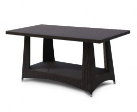 Verona Rattan Rectangular Dining Table - 1.6m