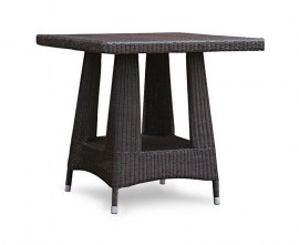 Verona Rattan Square Dining Table, Loom Weave - 80cm