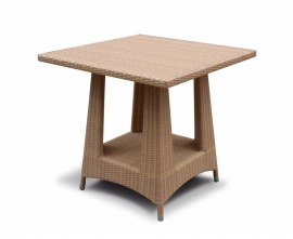Verona Rattan Square Dining Table, Flat Weave - 80cm