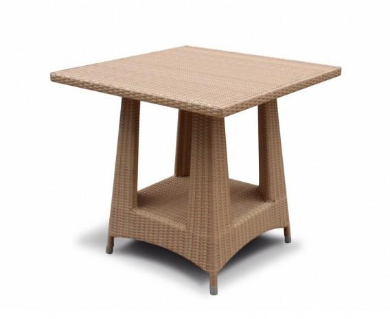 Verona Rattan Square Dining Table, Flat Weave - 80cm