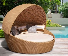 Synthetic Rattan Outdoor Daybed