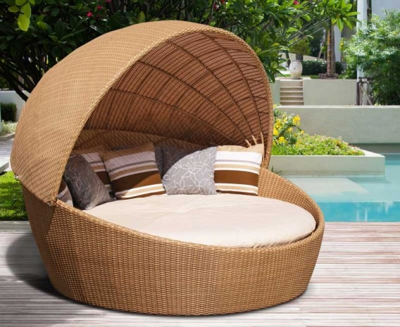 Marbella Poly-Rattan Garden Day Bed