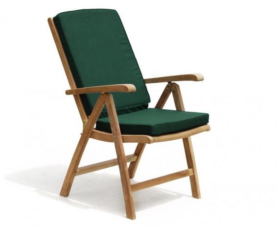 Tewkesbury Teak Outdoor Recliner Chair with Footstool