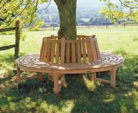 Teak Circular Tree Seat Bench - 2.2m