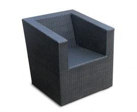 Azure Wicker Outdoor Armchair