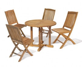 Sissinghurst 4 Seater Round 1m Dining Set with Cannes Chairs