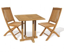Sissinghurst 2 Seater Square 80cm Dining Set with Cannes Chairs