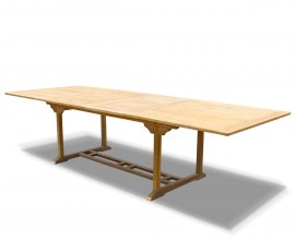 Large Teak Extendable Outdoor Dining Table