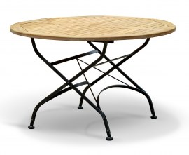 Café Round Folding Bistro Table Black – 1.2m