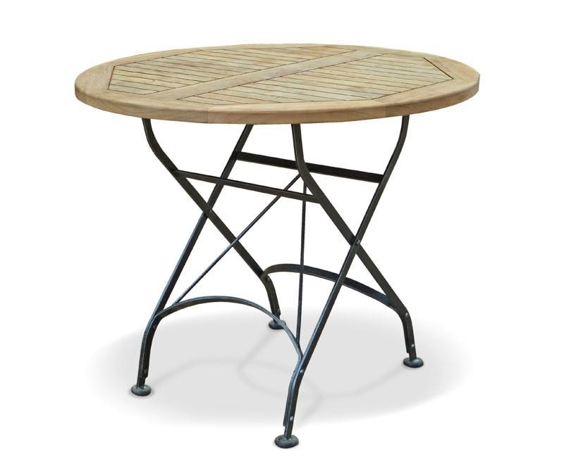 Café Round Folding Bistro Table Black - 90cm