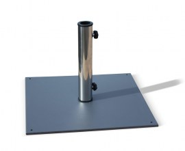 Large Square Steel Parasol Base - 20kg