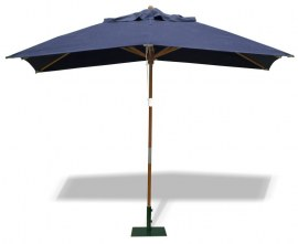 Rectangular Wooden Parasol - 3 x 2m