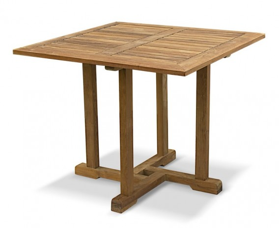 Sissinghurst Teak Square Outdoor Dining Table - 90cm