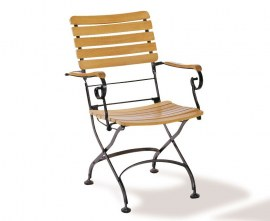 4 Seater Bistro Set Teak and Steel