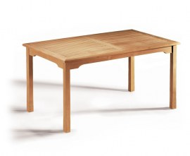 Hampton Teak Rectangular Garden Dining Table - 1.5m