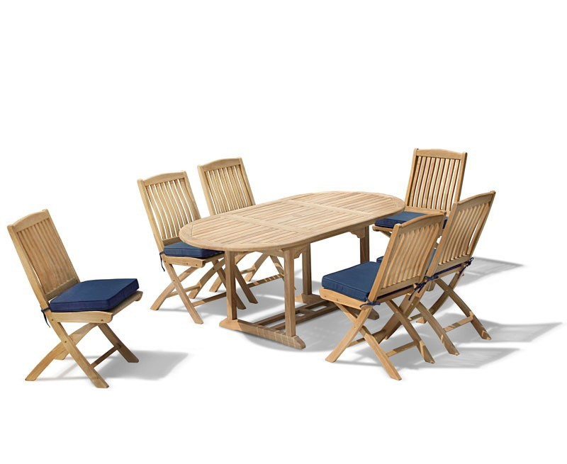 Oxburgh Curzon Single Leaf Extending Table & 6 Cannes Side Chairs