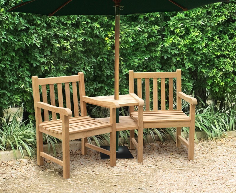 York Teak Garden Companion Seat