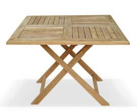 Lymington Square Teak Folding Table - 1m