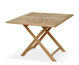 Lymington Teak Square Folding Garden Table - 1m