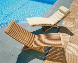 Lucia Teak Adjustable Sun Lounger