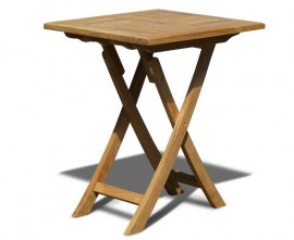 Lymington Square Teak Folding Table - 60cm