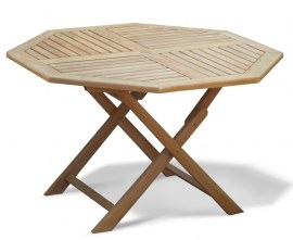 Lymington 4ft Octagonal Teak Garden Table - 1.2m