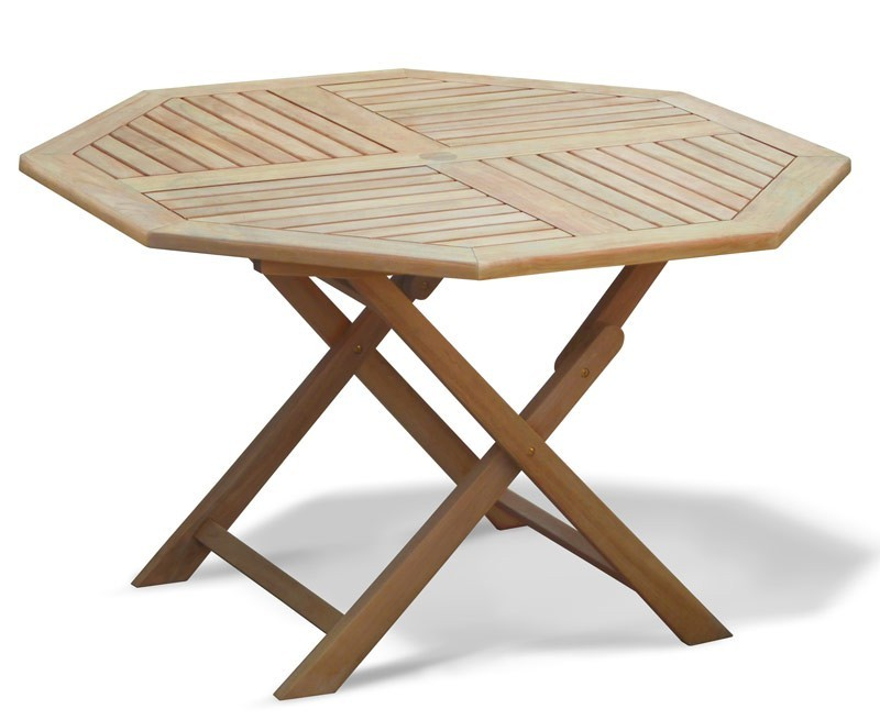 Lymington 4ft Octagonal Teak Garden Table - 1.2m
