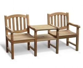 Kennington Vista Teak Garden Companion Seat