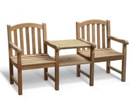 Gloucester Vista Teak Garden Companion Seat