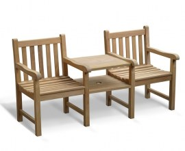 York Vista Teak Jack and Jill Seat