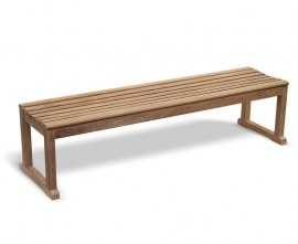 Tavistock Teak 4 Seater Backless Garden Bench - 1.8m