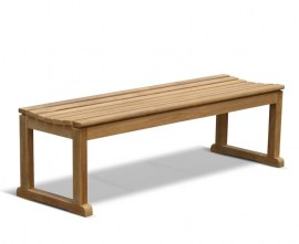 Tavistock Teak 3 Seater Backless Garden Bench - 1.5m