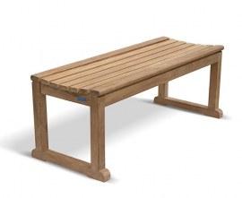 Tavistock Teak Backless Garden Bench - 1.2m