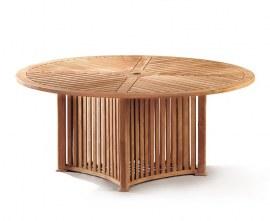 Richmond Teak Contemporary Round Garden Table - 1.8m