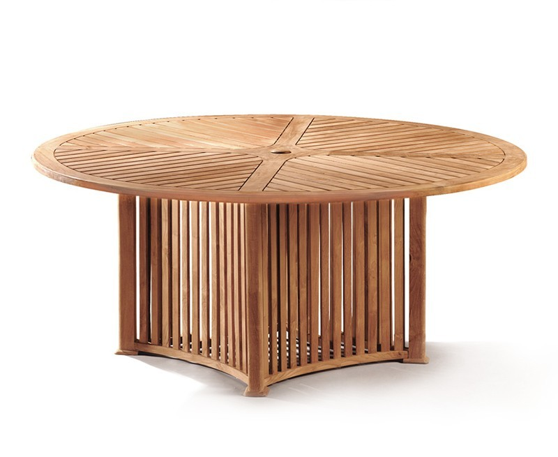 Richmond Teak Contemporary Round Garden Table - 1.8m