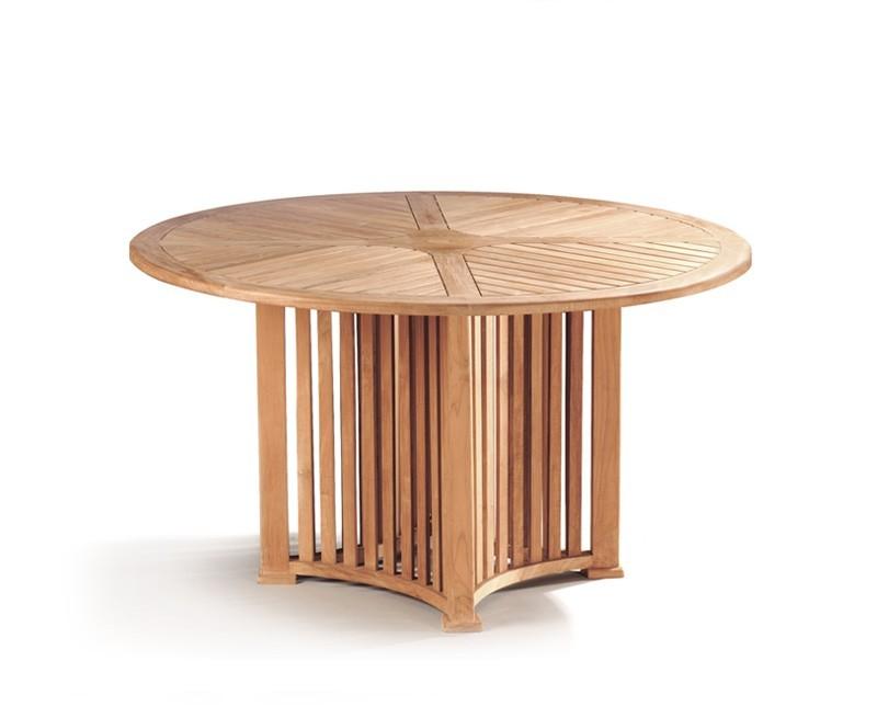 Richmond Teak Contemporary Round Garden Table - 1.3m