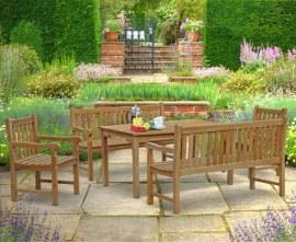 Sandringham Rectangular 1.5m Table & Windsor Benches & Chairs Set