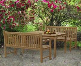 Sandringham Teak Table and Benches Set - 1.5m