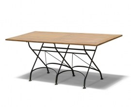 Café Rectangular Folding Bistro Table Black - 1.8m