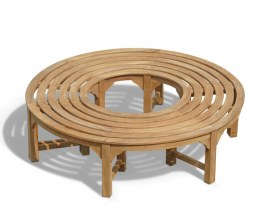Saturn Round Backless Tree Seat, Teak Circular Tree Bench – 1.6m