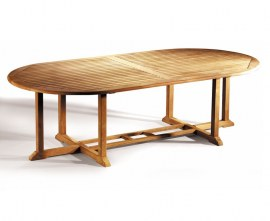 Winchester Teak Oval Garden Table - 1.2 x 2.6m