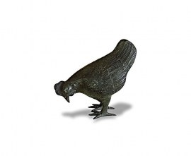 Brass Garden Ornament - Small Hen