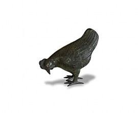 Brass Garden Ornament - Small Hen